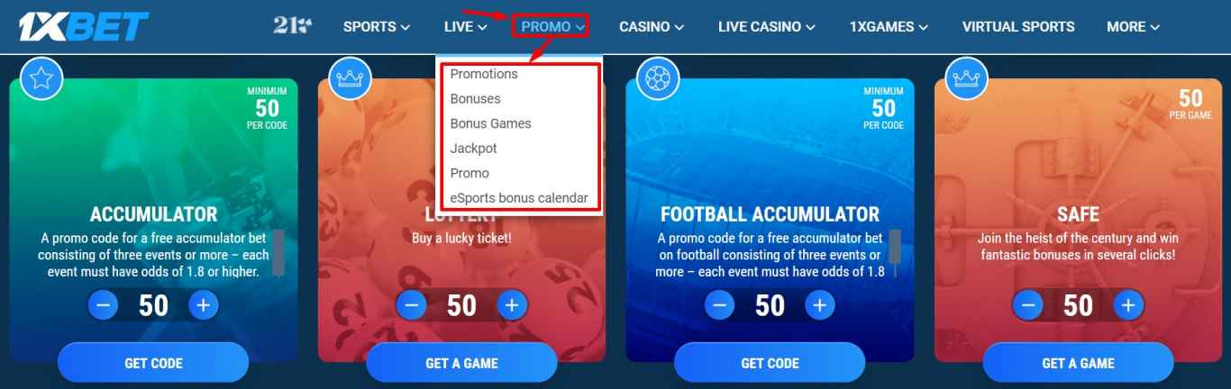1xBet promo code - Where to find and how to use